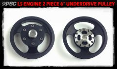 """PP2444A - 6.0"""" TWO PIECE Power Steering Pump Pulley (Serpentine)"""