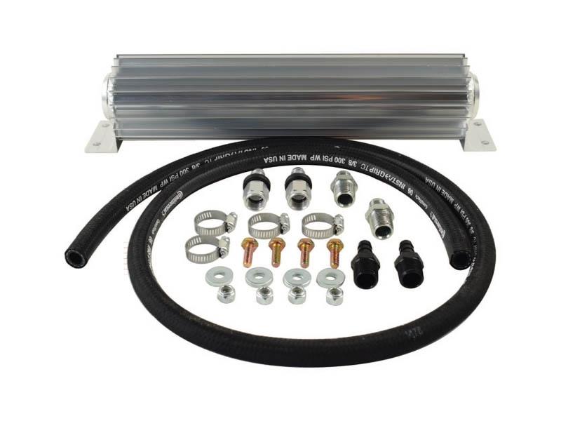 """CK100-8 - 16"""" Single Pass Super Flow Heat Sink Fluid Cooler with -8AN Fittings"""