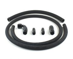 Hose Kit with Gloss Black Fittings for PSC Remote Reservoir Installation (Hydroboost)