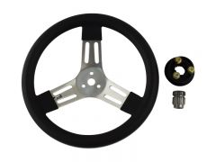 SW13/SWQRSP - 13 Inch Aluminum Steering Wheel with Splined Quick Release